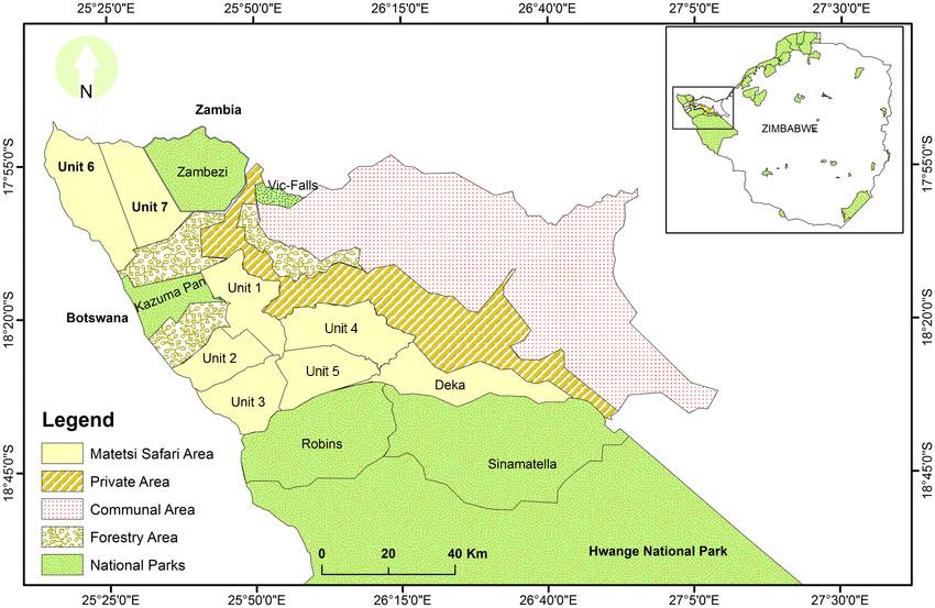 Matetsi Safari Area Map