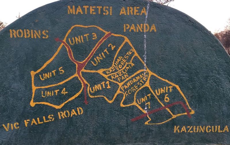 Matetsi Area Map